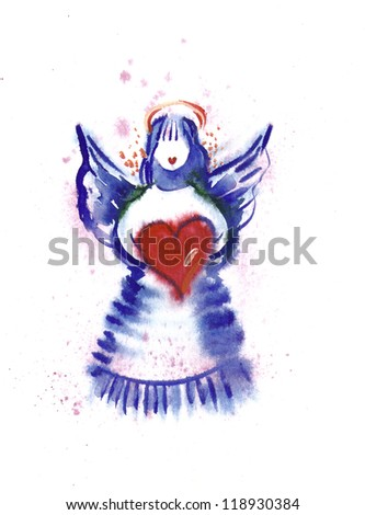 Watercolor -Angel-