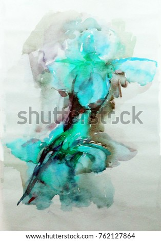 watercolor art  background floral flowers iris painting bright wet wash blurred textured  decoration  handmade beautiful colorful delicate romantic creative
