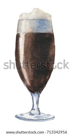 Watercolor beer glass