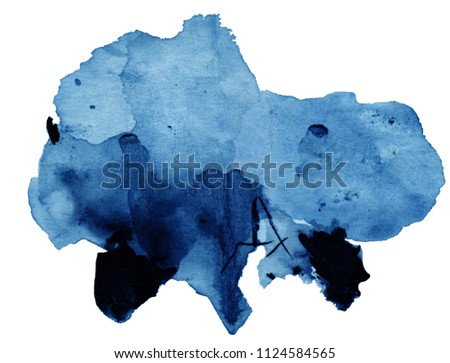 watercolor black and blue stain in gray shades