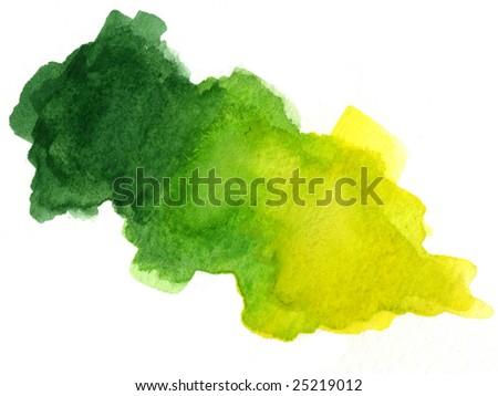 watercolor blotch