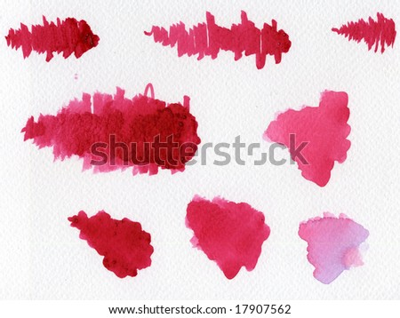watercolor blotches - stock photo