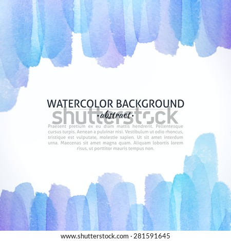 Watercolor Blue and Purple Abstract Background. Watercolor photoshop grain and art bit mapped graphics. Graphic arts are a raster. Abstract shape for Business background presentation and advertising. stock photo