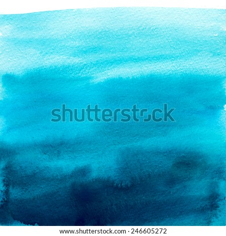 Watercolor blue gradient like the sky or sea water.