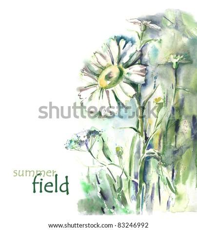 Watercolor -Camomile-