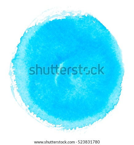 Watercolor circle isolated on white background #523831780