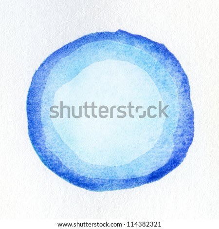 Watercolor circle shape on paper texture