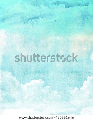 watercolor clouds and sky...