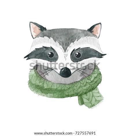 watercolor cute portrait of a...