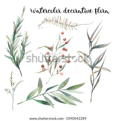 watercolor decorative floral...