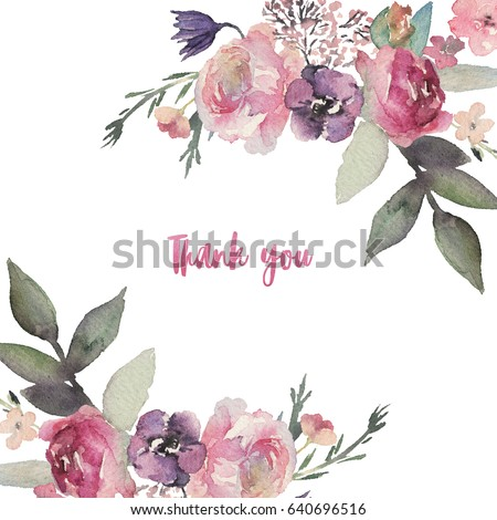 Royalty Free Watercolor Illustration Flowers In 256913356 Stock