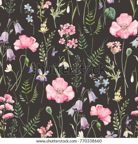 Watercolor floral pattern delicate flower wallpaper wildflowers watercolor floral pattern delicate flower wallpaper wildflowers pink pink poppy snowdrop mightylinksfo