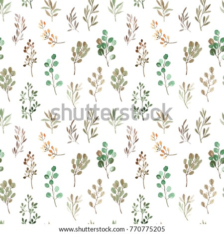Watercolor Floral Seamless Pattern Design For Wallpaper Background Print Fabric Textile