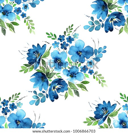 watercolor floral seamless...