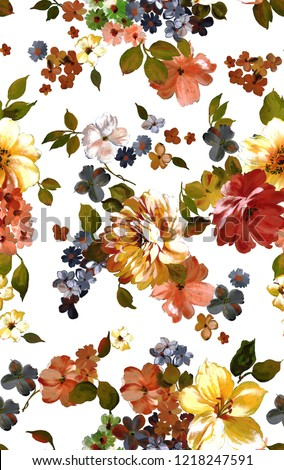 Watercolor Flower print background