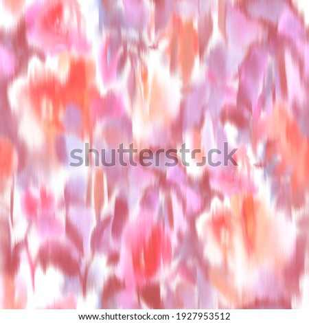 Watercolor hand drawn botanical background made of meadow flowers. Blur texture. Defocused floral seamless pattern. Fashion design for textile, fabric and surface. Foto stock ©