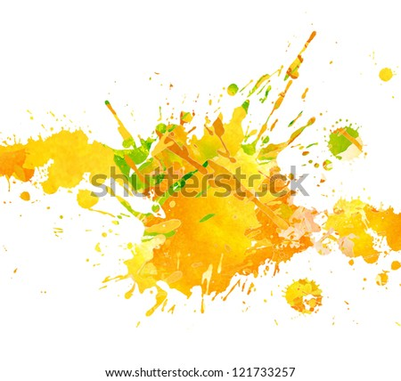Watercolor hand drawn paint splash