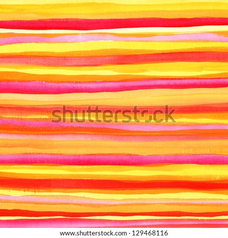 Watercolor hand painted brush strokes striped background