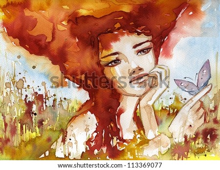 http://image.shutterstock.com/display_pic_with_logo/722569/113369077/stock-photo-watercolor-illustration-of-a-portrait-of-a-girl-113369077.jpg