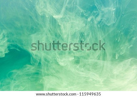 Watercolor in water.