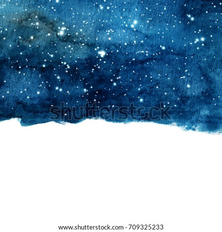 watercolor night sky background ...