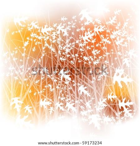Watercolor oak forest - raster