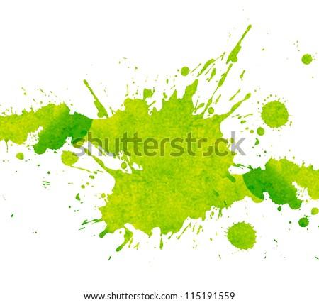 watercolor paint splash