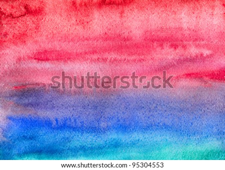 Watercolor Painting - Shutterstock ID 95304553