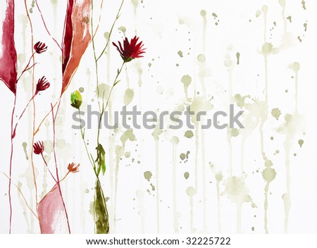 watercolor painting flowers. Watercolor Painting Of Flowers