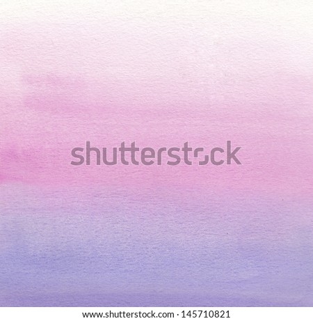 Watercolor painting. White, pink, purple gradient