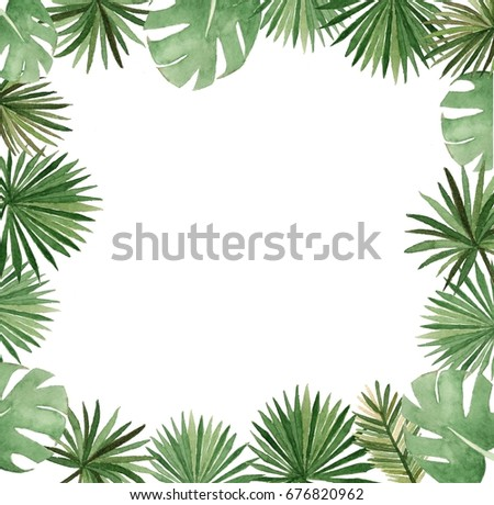 Watercolor palm template