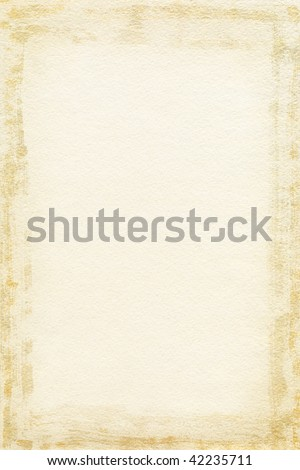 Watercolor paper texture with grunge frame