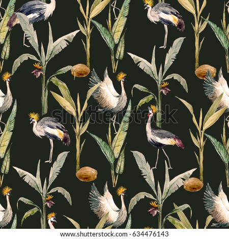 watercolor pattern with birds....