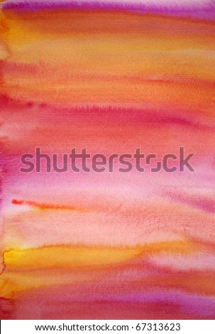 Watercolor pink hand painted art background for scrapbooking, created by me
