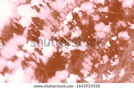 Watercolor Print. Brushed Graffiti. Vintage Dirty Art Background. Dirty Art Grunge. Watercolor Pattern. Abstract Splash.Tie Dye Pattern. Pink Aquarelle Texture. Brown Tie Dye Patchwork.