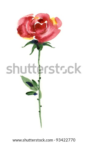 Watercolor -Rose-