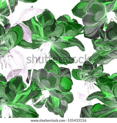 Watercolor roses seamless pattern  #535433116