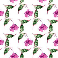 Watercolor seamless pattern. Modern stylish texture.Watercolor illustration.