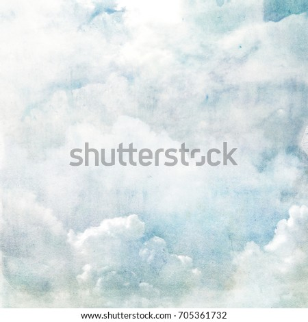 Watercolor sky as background