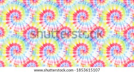 Watercolor Spiral. Vibrant Fantasy Tie Dye. Vibrant Hand Drawn Dye. Rainbow Artistic Circle. Tiedye Swirl. Trendy Seamless Effect. Organic Acrylic Dirty Painting. Artistic Fabric.