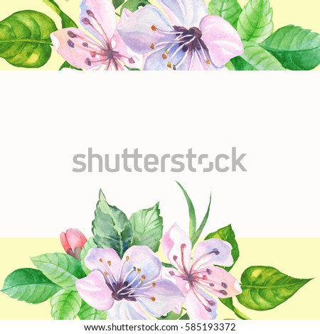 Watercolorspring flowers border ez canvas watercolorspring flowers border mightylinksfo