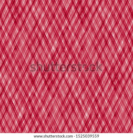 Watercolor stripe plaid seamless pattern. Red color diagonal stripes on white background. Watercolour hand drawn striped texture. Print for cloth design, textile, fabric, wallpaper, wrapping, tile.