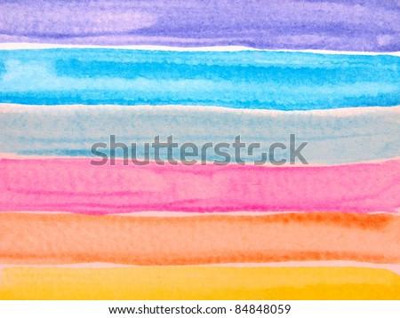Watercolor stripes 3