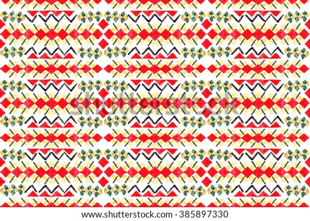 Watercolor Tribal Seamless African Pattern African Ethnic Abstract