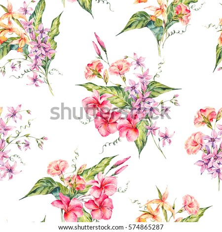 watercolor vintage floral...