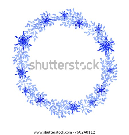 Watercolor winter holidays illustration on white background. Winter ...