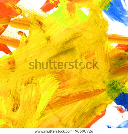 watercolor yellow brushstrokes texture