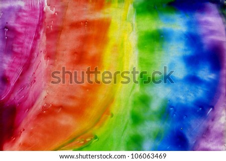 watercolors abstract background rainbow