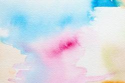 watercolors - serenity and rose quartz pastel tones