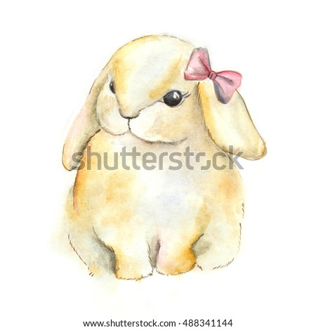 watercolour bunny #488341144
